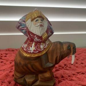 Father Frost Santa on Walrus